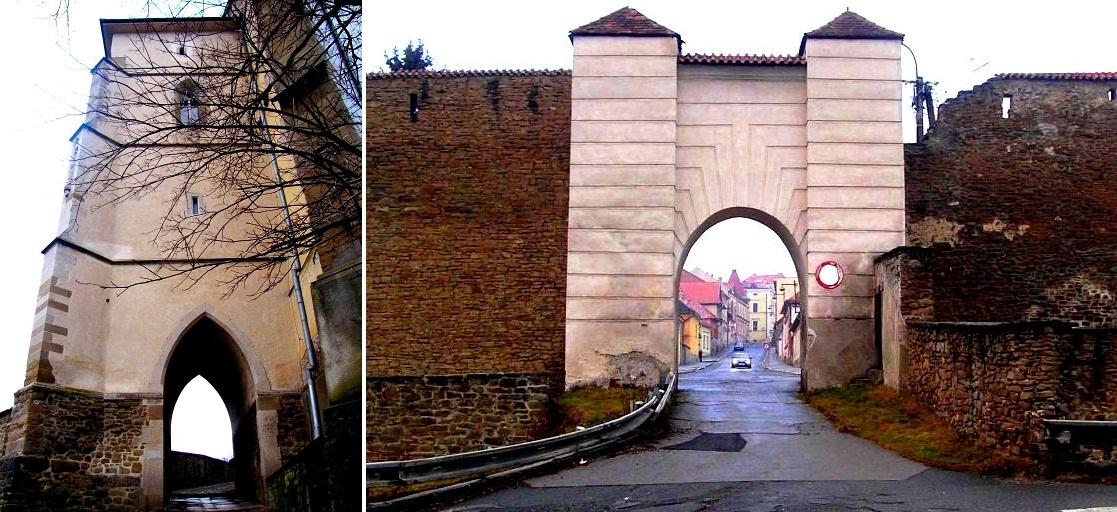 Система укреплений включает трое сохранившихся городских ворот: Польскую, Менгардскую (на фото), а также Кошицкую брамы
