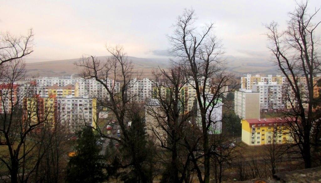 """Вид на """"новую"""" Левочу с крепостных стен"""