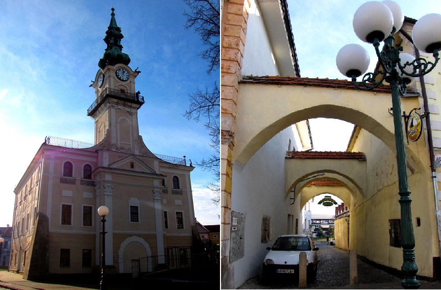 Ратуша (кон. XVIII в.) и старинная улочка.