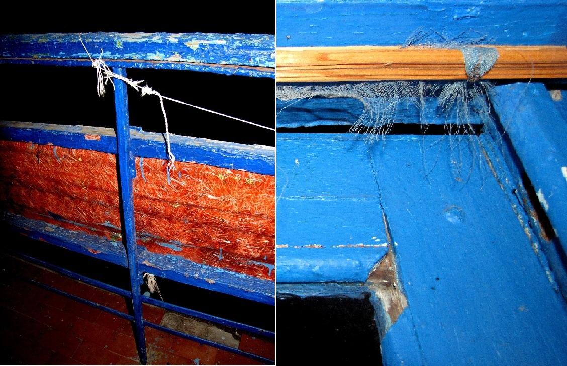 Фрагмент наших балконных перил и нашей балконной двери. Возможно, кто-то скажет, что мы придираемся.